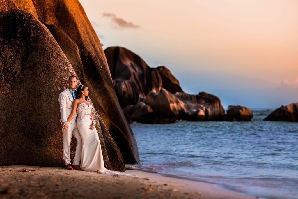 Hochzeitsfoto Seychellen La Digue