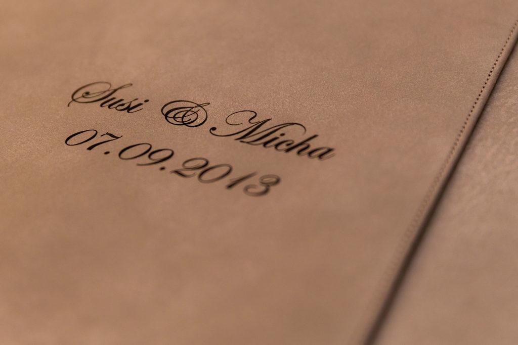 Hochzeitsalbum Leder Gravur Name