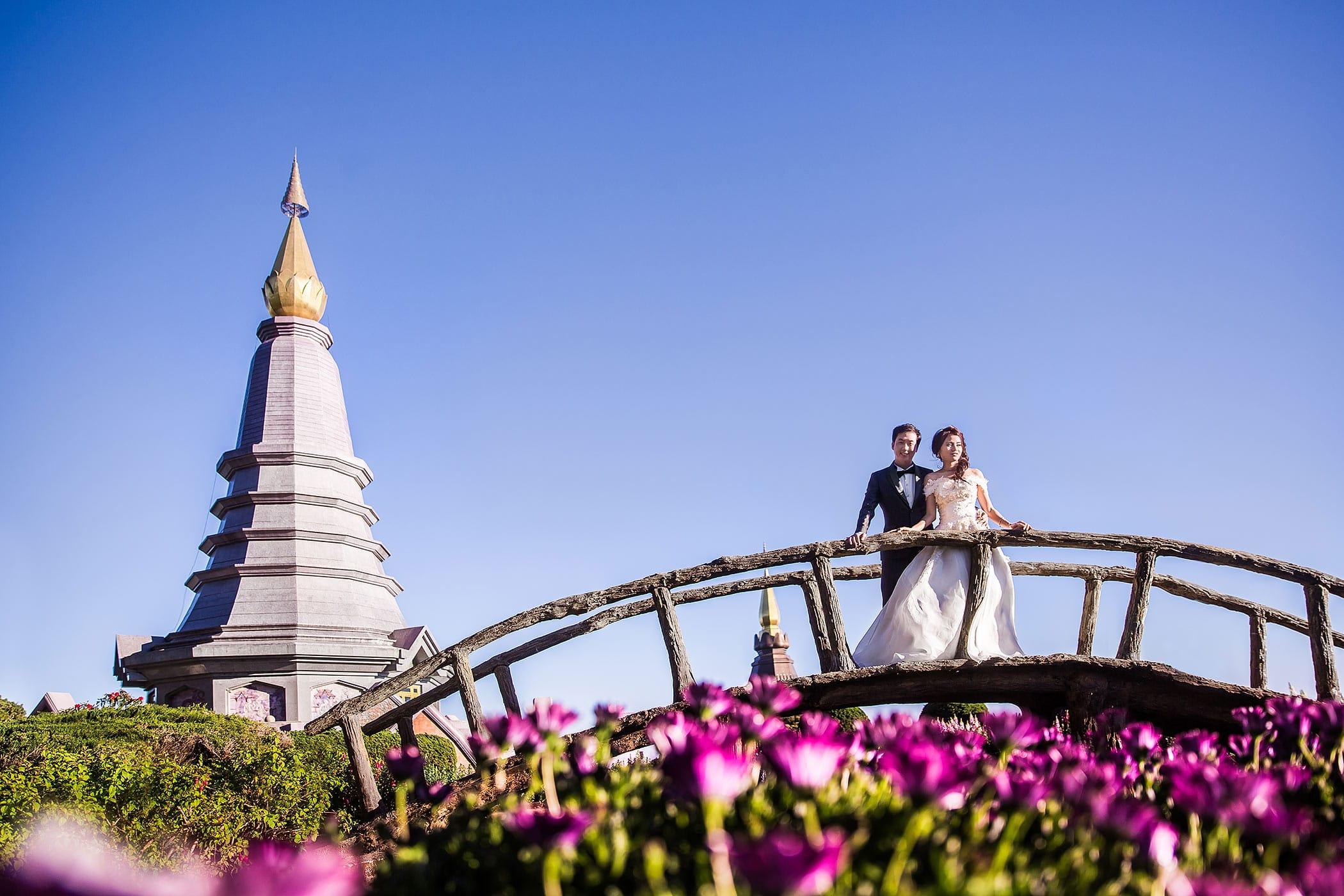 Hochzeitsfoto in Thailand Doi Intanhon