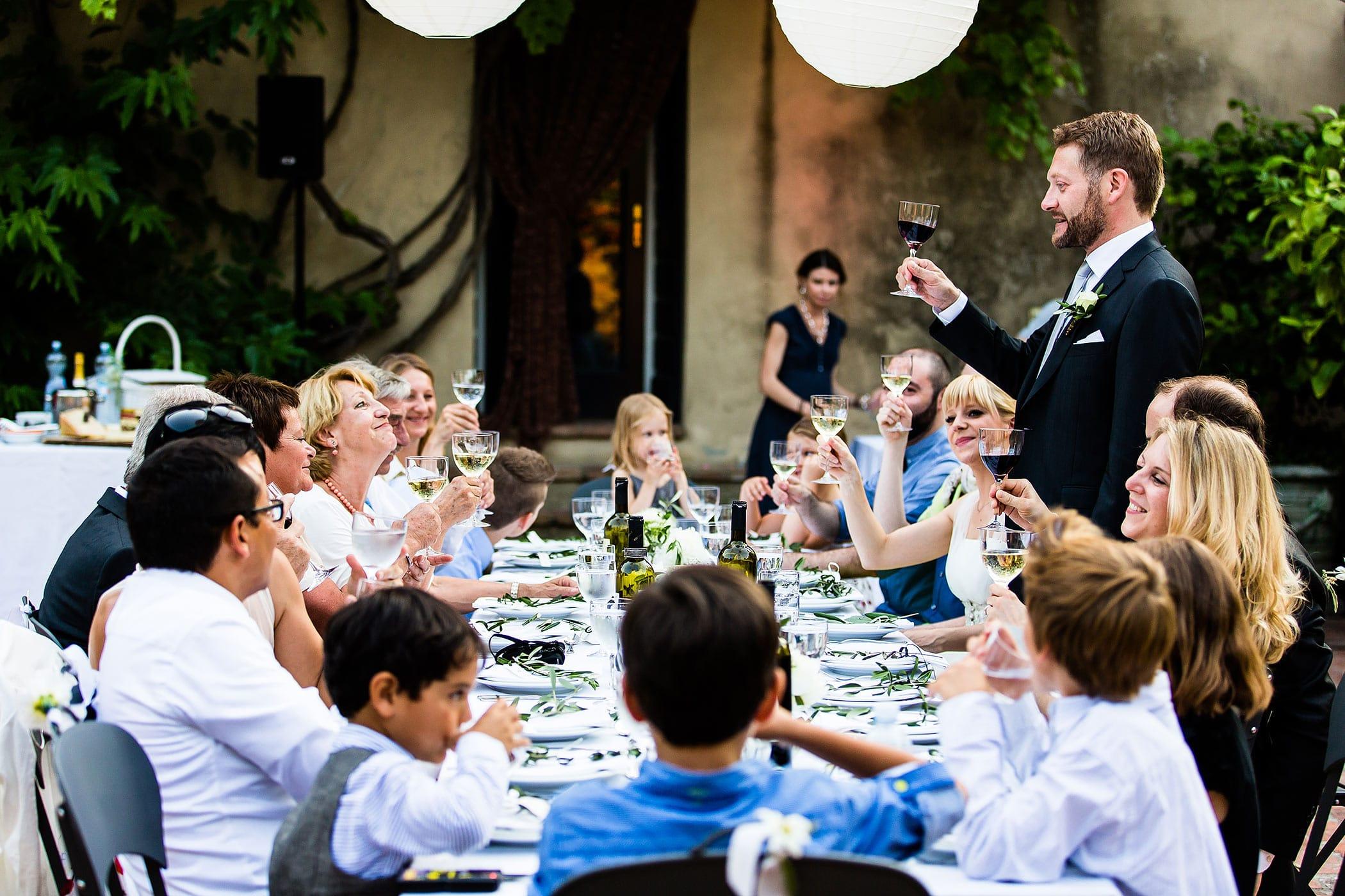Hochzeitsfeier in Italien