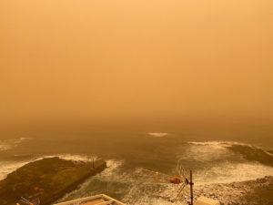 Calima Sandsturm Teneriffa Ausblick